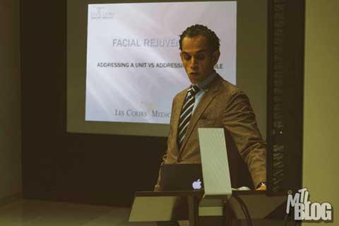 Dr. Omar Fouda Neel giving a Mommy Makeover Seminar - Slide 1