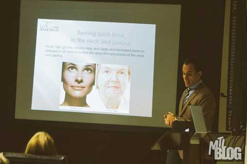 Dr. Omar Fouda Neel giving a Mommy Makeover Seminar - Slide 2