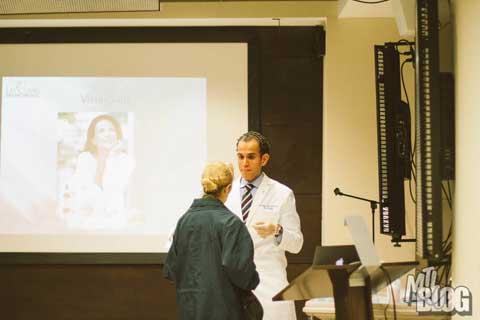 Dr. Omar Fouda Neel giving a Mommy Makeover Seminar - Slide 3