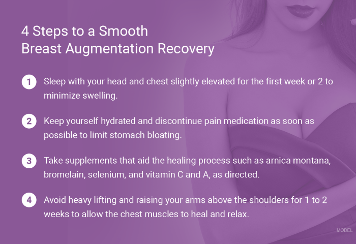 Four steps to a smooth breast aug recovery